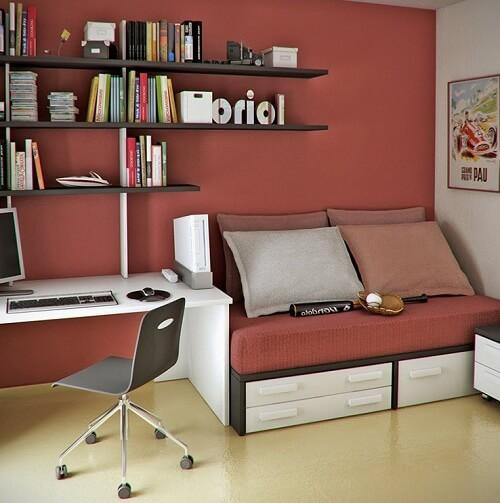 Chọn Màu Sơn Đẹp Cho Phòng Làm Việc Khi Xây Nhà